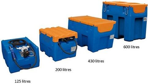 mobile adblue tank, adblue storage tank, adblue pump